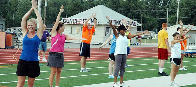 Bulldog Days participants work out one morning in July 2009. The community exercise program is back this summer for free. It starts Monday.