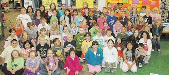 This years third-graders at Bonner Springs Elementary, shown above, created a Bonner Springs Trivia Game as part of their year-long Expeditionary Learning project, themed Theres no place like home.