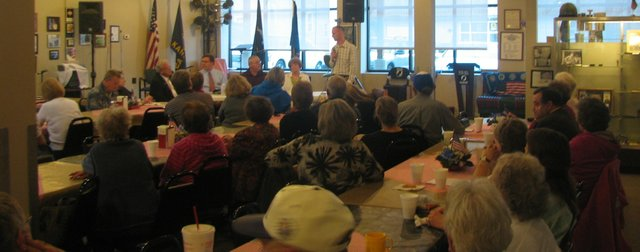 The Basehor VFW Post 11499 played host to a Basehor City Council candidate forum in April, one of many community events held at the post building on a regular basis. The post is in jeopardy of losing the building on 155th Street if it does not receive more support soon.