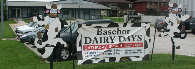 A sign in front of Basehor City Hall heralds the coming of the 2011 Basehor Dairy Days festival, which will take place June 3 and 4.