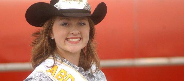 This year's Abdallah Shrine Rodeo Queen Cheyenne Patton of McLouth hopes to take her passion for horses with her to college.