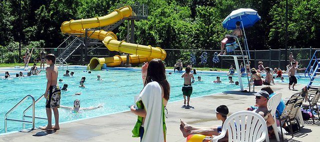 The Baldwin City Municipal Pool officially opened for the season on Monday.