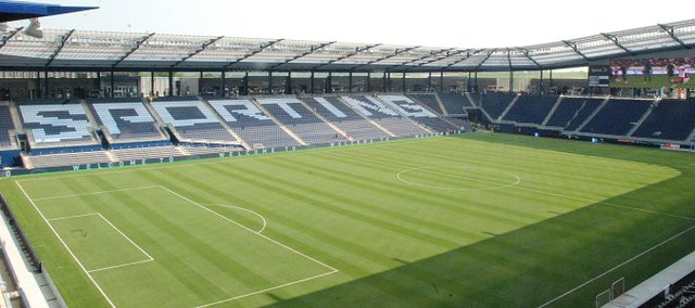 LIVESTRONG Sporting Park, the completed project, as it looked Tuesday, June 7, 2011.