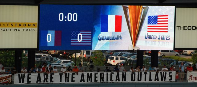 The United States Men's National Team is playing Guadeloupe in the final game of Group C action in the Gold Cup.