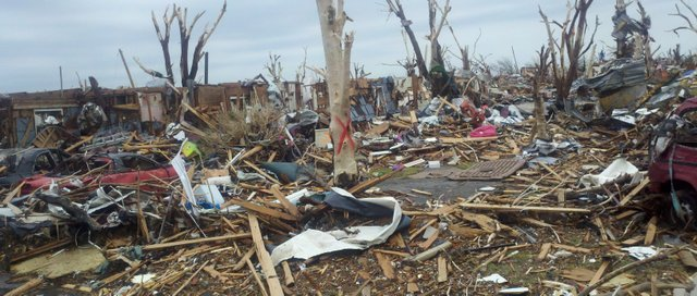 This photo from a group of Basehor-area firefighters and a police officer shows the devastation still visible in Joplin, Mo., a week after a tornado struck the city on May 22.
