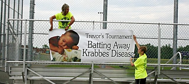 The 11th-annual Trevor's Tournament was held in Baldwin City on June 25. The slow-pitch softball tournament once again raised money for scholarships and research of Krabbes Disease.