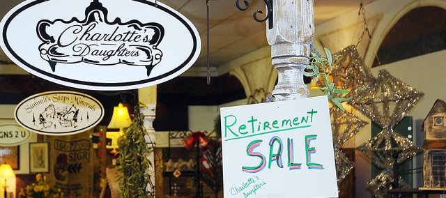 Charlotte's Daughters in Baldwin City had all items on sale Friday to prepare for the store's closing on Saturday. Owner Linda Guss decided to close the store as she enters retirement.