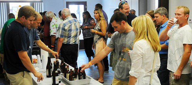 The Baldwin City Recreation Commission hosted a Wine and Brew Festival Friday at the Lumberyard Arts Center to raise money for the commission's scholarship fund. After paying for expenses for the event, the BCRC was able to donate about $350 to their scholarship fund.