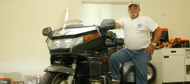 Dave Plomaritis has recently opened a business in Tonganoxie that specializes in converting motorcycles to three-wheeled trikes, which appeal to other Baby Boomers like him who have physical problems limiting their abilities to ride two-wheeled motorcycles.