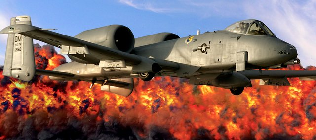 "Attendees at this weekend's Kansas City Aviation Expo and Air Show can see the U.S. Air Force A-10 Thunderbolt — also known as the ""Warthog"" — in action. A Kansas University and Olathe North High School graduate, U.S. Air Force Capt. Joe ""Rifle"" Shetterly, is one of the pilots on the A-10 demonstration team."