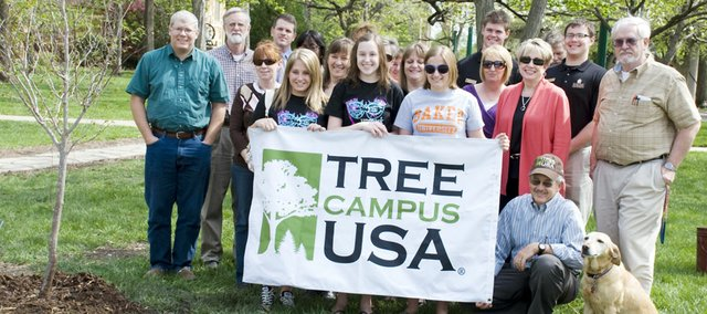 Baker University celebrated its Tree Campus USA designation on April 29 on the Baldwin City campus.