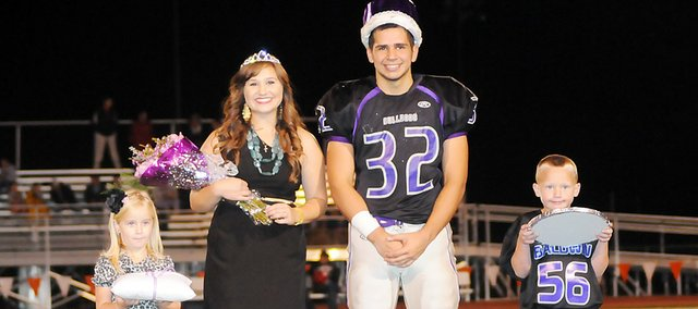 Baldwin High School seniors Brooke Morgan and Jake Mindez were crowned 2011 homecoming queen and king Friday night. The crown and tiara bearers were Elee Reynolds, daughter of Ryan and Toni Reynolds, and Conner Murry, son of Rob and Jennifer Murry.