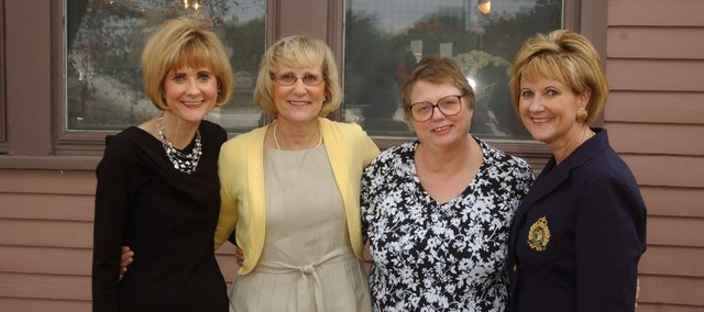 The four daughters of Jean Harman returned Friday and Saturday to Tonganoxie for ceremonies marking her induction in the USD 464 Education Hall of Fame. The women are, from left, Leslie Hubbel, Sandy Adams, Nancy Hoglund and Barb Watson.