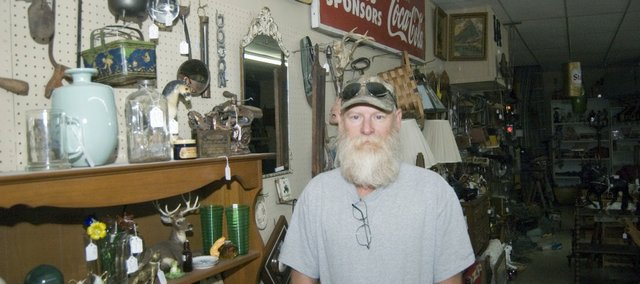 Kipp Barnett has taken his love for antique collecting and has made it a new career. He will open Kipp's Treasures on Saturday in downtown Tonganoxie. Barnett has been buying and selling antiques for roughly 40 years.