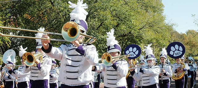 Baldwin High School is one of several local schools that performs in the annual grand parade, which begins at 11 a.m. Saturday.