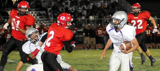 Baldwin High School sophomore Cornell Brown scored the Bulldogs' final touchdown Friday night. BHS beat Ottawa 28-6, winning its first Class 4A district game.