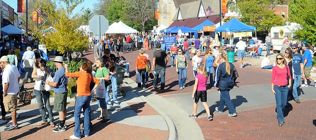 The 54th annual Maple Leaf Festival attracted thousands of visitors to Baldwin City over the weekend of Oct. 15-16.