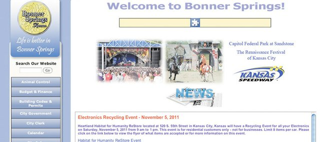 The city of Bonner Springs' website is getting a makeover.