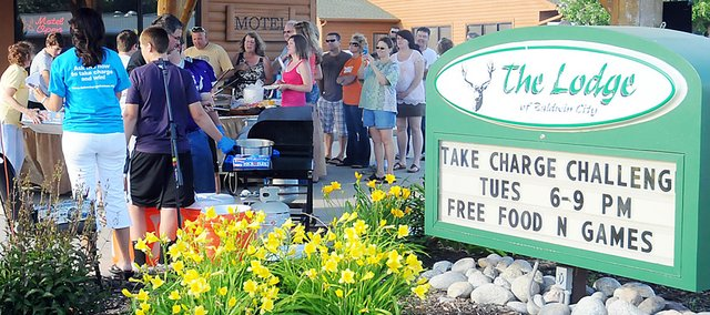 Baldwin City won the Take Charge Challenge's northeast region. It was events like this June public event that helped Baldwin City win $100,000 for the energy-efficiency contest.