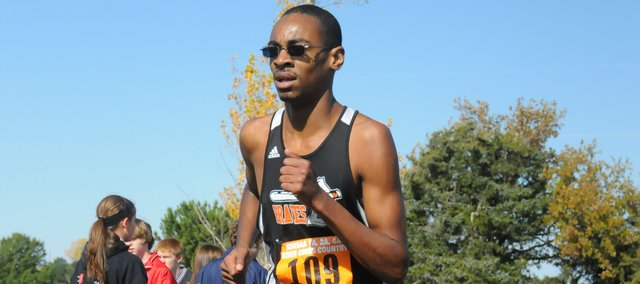 T.J. Kimbrough-French lost a shoe early in the race Saturday at the Class 4A state championships, but he still turned in a strong performance and finished 51st overall.