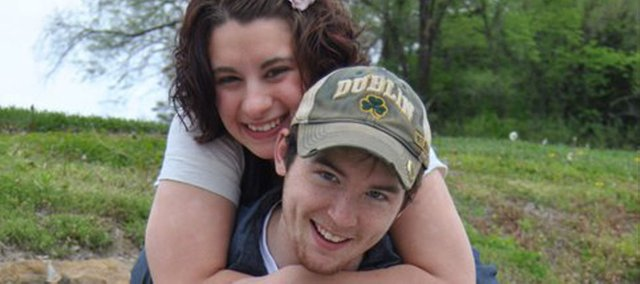 Alicia Cobleigh and Chad Roberts were to be married in November. Roberts died Saturday in a grain elevator explosion near Atchison.