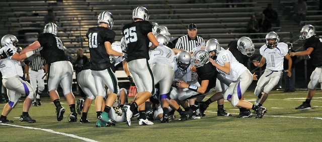 The Baldwin High School football team played its final game of the season Tuesday night at Blue Valley High School. The Bulldogs lost 27-6 to Blue Valley Southwest in the bi-district playoffs. They finished the season 6-4.
