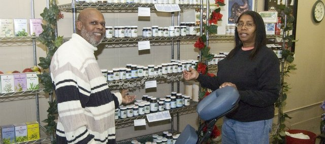 Lou and Joveta Johnson have opened Nature's Open Door in downtown Tonganoxie. The couple offers supplements, herbs and other health products and also provide theraputic messages.