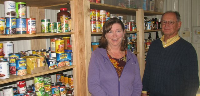 Glenda Briscoe and Jeff Bohndorf, members of the board of directors for Basehor-Linwood Assistance Services, and other volunteers have expanded the group's efforts, including the opening of a new food pantry this fall.