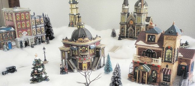 Art and Darlene Cederholm have been collecting holiday figures and sets since the mid-1990s. Their collection is on display at Lumberyard Arts Center.