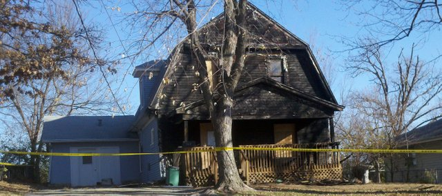 This house on Cornell caught fire Tuesday night after an electric blanket was left on a wicker chair on the front porch.