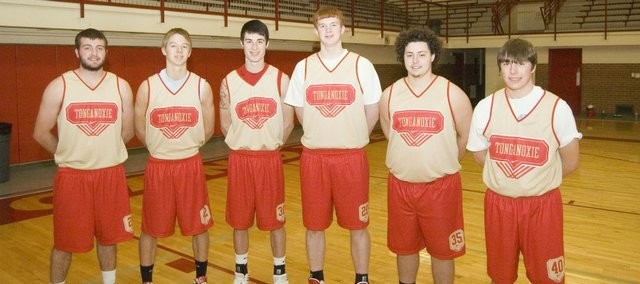 The Tonganoxie High boys basketball team opens the season Friday at home against Basehor-Linwood. Seniors on this year's squad are, from left, Brady Waldeier, Ben Williams, Dylan Jacobs, Dane Erickson, Brennan Williams and Colby Yates.