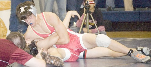 Tonganoxie's Clayton Himpel went 5-1 at the Eudora Tournament of Champions. Himpel took second place in the 120-pound division.