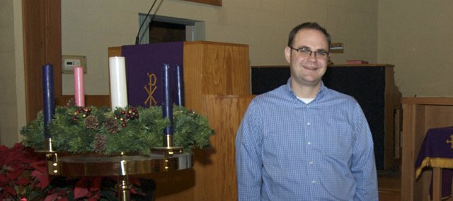 Rev. Jeff Clinger has returned to his hometown to become pastor at Tonganoxie United Methodist Church. Clinger is a 1998 Tonganoxie High School graduate and has been pastor at the church since July, replacing Rev. Francis Stockton, who retired.
