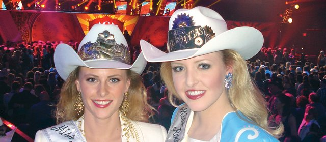Miss Rodeo Kansas 2011, Alyssa Morrison, right, poses for the camera with Miss Rodeo Minnesota 2011, Paige Oveson, during the American Country Music Awards at the MGM Grand Hotel. The awards presentation was just one of the highlights of the Miss Rodeo America pageant, which took place earlier this month in Las Vegas and during which Morrison came in as third runner up.
