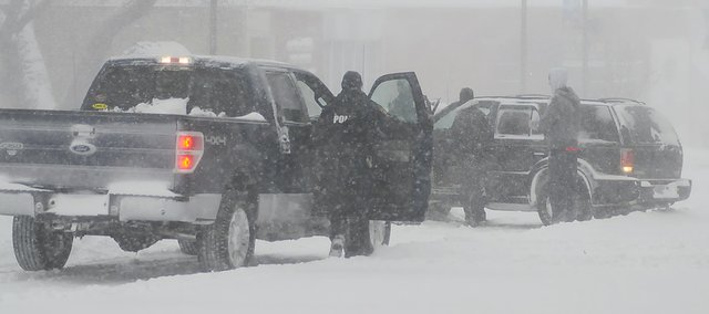 A Feb. 1 blizzard hit Baldwin City and surrounding areas with 10 inches of snow and wind chills in the minus-20 degree range. Many drivers had troubles getting around town during the blizzard.