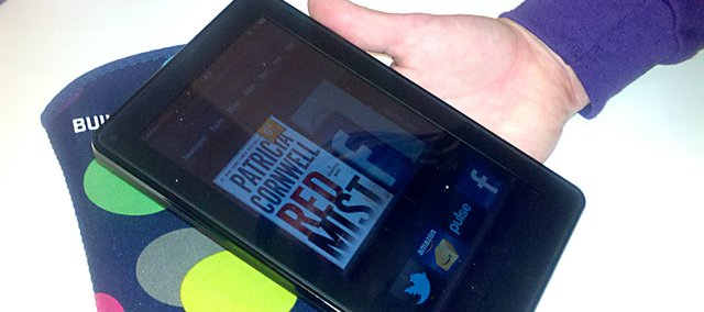 The new Kindle Fire is among e-readers now on the market.
