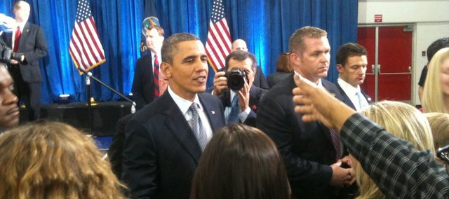 Tonganoxie USD 464 Superintendent Randy Weseman had the opportunity to attend President Barack Obama's visit this past month to Osawatomie.