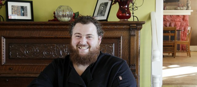 "Chris Feaster is the co-owner and head chef of Feaster's Bistro, 519 Ames St. Baldwin City. Feaster uses locally sourced ingredients in a ""farm-to-table"" format."