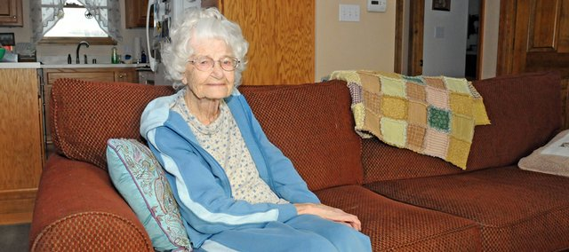 Rural Baldwin City resident Ruth Perry celebrates her 100th birthday Jan. 19. A longtime teacher in southwest Douglas County rural schools and Lawrence, she grew up on an isolated ranch in Wyoming in the early days of the last century.