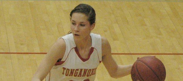 Junior Jenny Whitledge was one of Tonganoxie's top performers at the Tonganoxie Invitational. She averaged a double-double with 14.3 points and 10.3 rebounds per game.