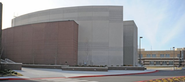 The Performing Arts Center on the USD 348 high school/junior high campus may not be available this spring as a community storm shelter if the city and district can't resolve differences.