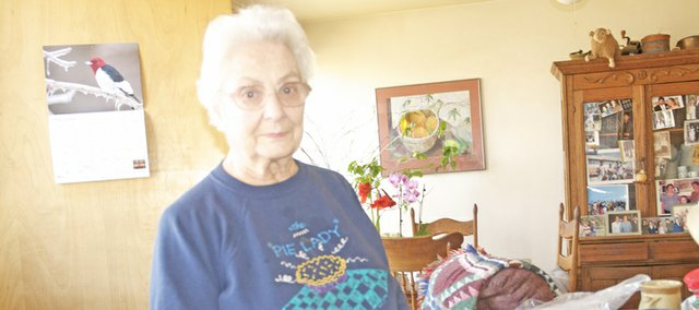 Mary Jane Chubb is well known in Baldwin City for her pies she has made for community functions, restaurants and special order. She recently stopped making pies for cafes but will have three pies at Sunday's Chocolate Auction.