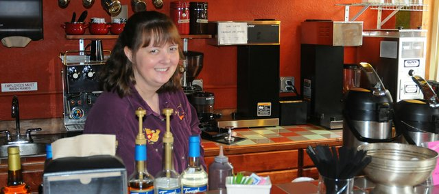 Edith Oakman is managing the Daylight Espresso Cafe in the front of The Town Galleria, 718 Eighth Street. The coffee shop also carries pastries and was opened by the owner of Daylight Donuts in Ottawa.
