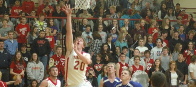 Dane Erickson led all scorers with 27 points and eclipsed the 1,000-point mark in the Chieftains' win over Piper.