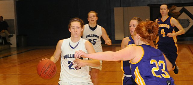 Guard Katie Jones led the Bulldogs in scoring in the team's victory Tuesday against visiting Spring Hill.
