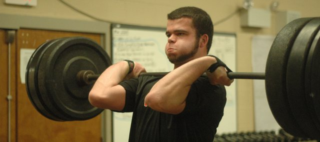Senior Tyler Stockman and the THS powerlifting team will wrap up their 2012 season Saturday at the Horton Invitational.