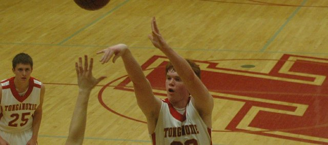 Dane Erickson scored 24 points and grabbed 12 rebounds to help THS to a 60-48 win over Jeff West.