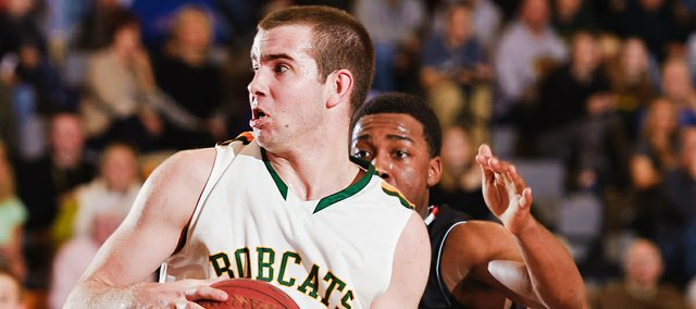Basehor-Linwood senior Colin Murphy scored 21 points in the Bobcats' 44-33 victory on Feb. 24. The two teams will play again in the sub-state semifinal on Friday, March 2 in Bonner Springs.