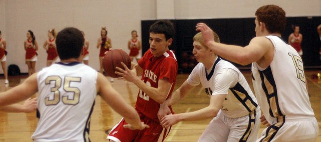 John Lean and the THS boys struggled from the opening tip in Thursday's loss to Hayden.