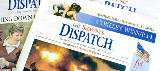 The Shawnee Dispatch newspaper — which covers the Johnson County, Kan., city of Shawnee — prints each Wednesday and updates news daily at shawneedispatch.com.
